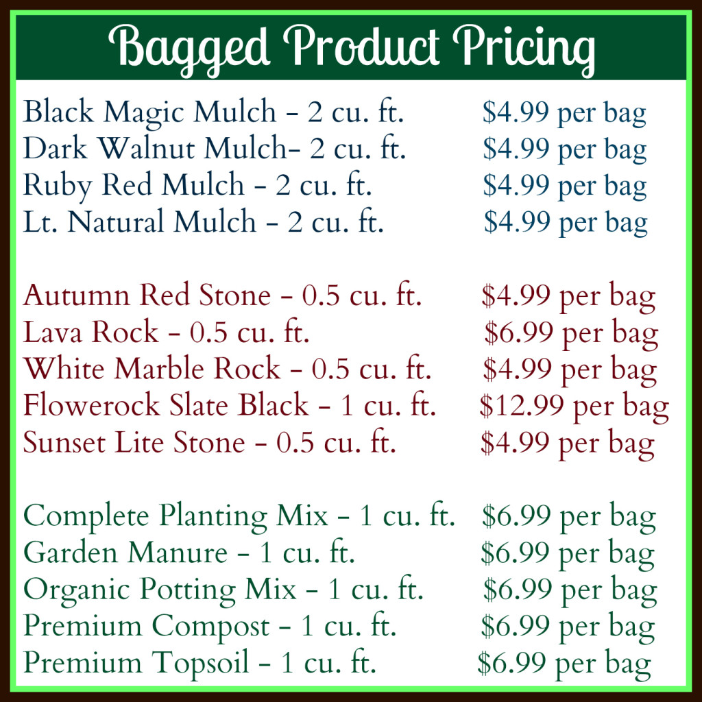 How Much Does A Yard Of Gravel Weigh >> Mulch, Soil & Stone - GreenScapes Garden Center & Landscape Co.